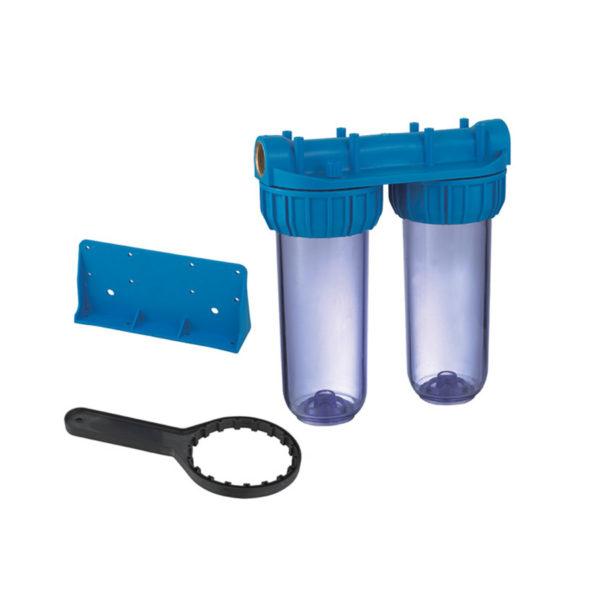 """Vaso doble contenedor para filtros de 10"""""""